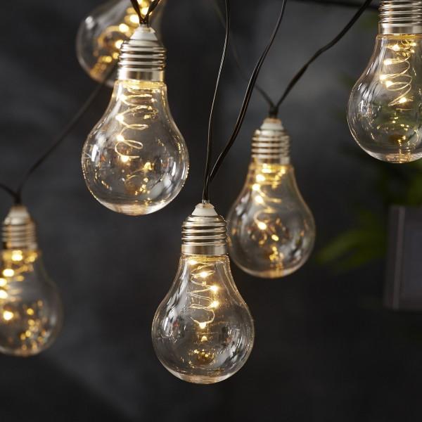 LED Lichterkette GLOW - Solar - Outdoor - 10 warmweiße LED - L: 1,9m - Lichtsensor - transparent