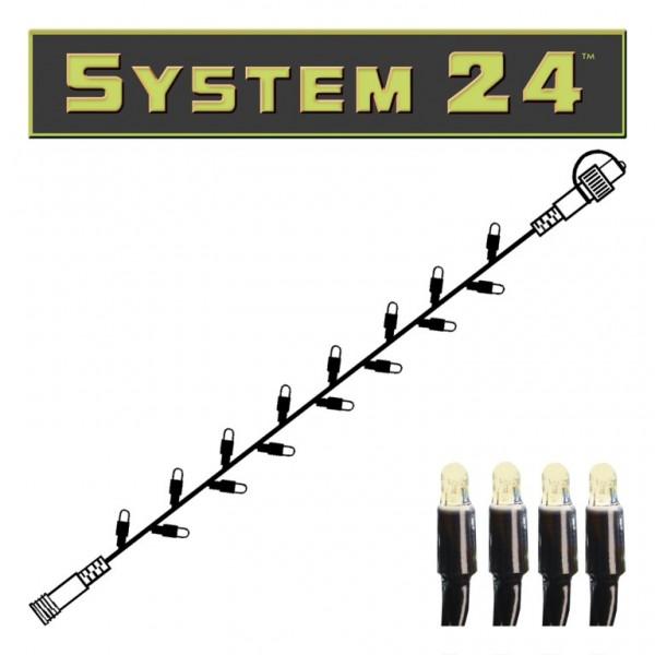 System 24 | LED-Lichterkette | koppelbar | exkl. Trafo | 5.00m | 49x Warmweiß