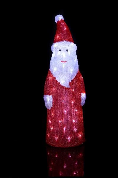 "LED-Weihnachtsmann ""Crystal Santa"" - 60 kaltweiße LED - klares Acryl - H: 57cm - outdoor"