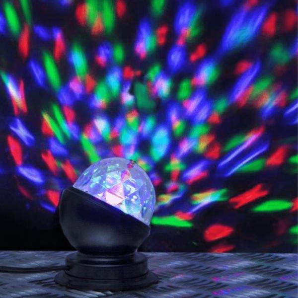 Disco-Lamp   kleiner Lichteffekt für Party und Dekoration   3-Farbiges Farbenspiel