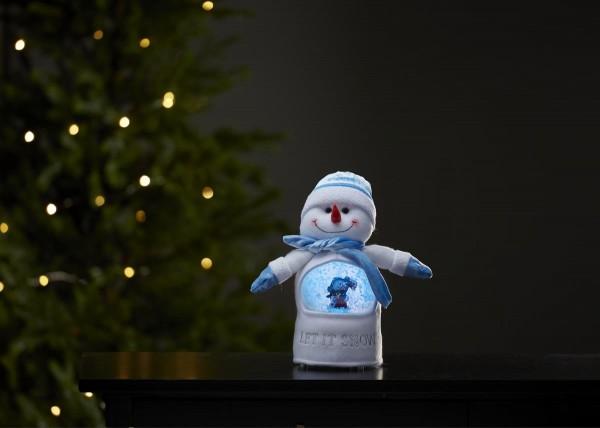 "LED-Stoff-Figur ""Joylight"" Schneemann - Schneekugel mit Sensor - 1 warmweiße LED - ↑26cm"