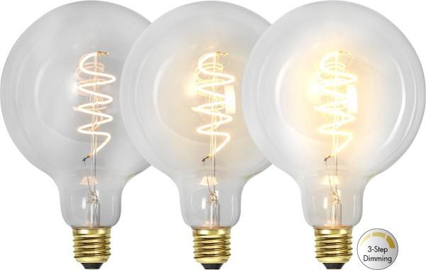 Leuchtmittel   LED   Filament   SPIRAL   DEKORATION   E27   Dimmbar   Kugel   Ø179mm   Clear Glas