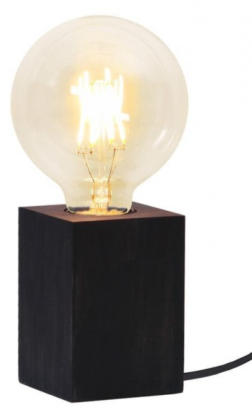 Lampenhalterung | LYS | E27 | →7cm x ↑10cm | 180cm Kabel | Fassung Holz Schwarz