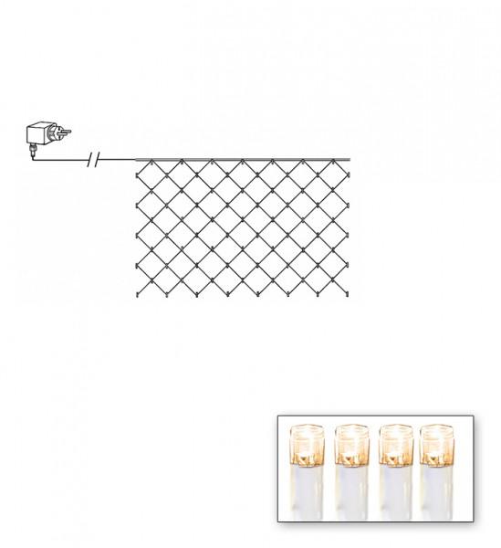 LED-Lichternetz | Serie LED | Outdoor | Transparentes Kabel | warmweiße LED | 3.00m x 3.00m | 180x LEDs