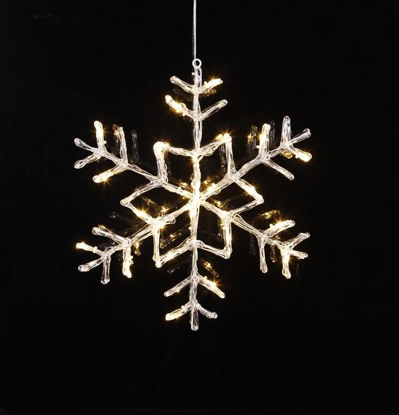"LED Acryl-Schneeflocke ""Antarctica"" - 24 warmweiße LED - D: 40cm - Outdoor"