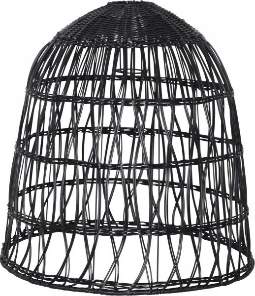 Lampenschirm KNUTE wetterfest - für E27 Fassungen - schwarz - D: 48cm - H: 50cm