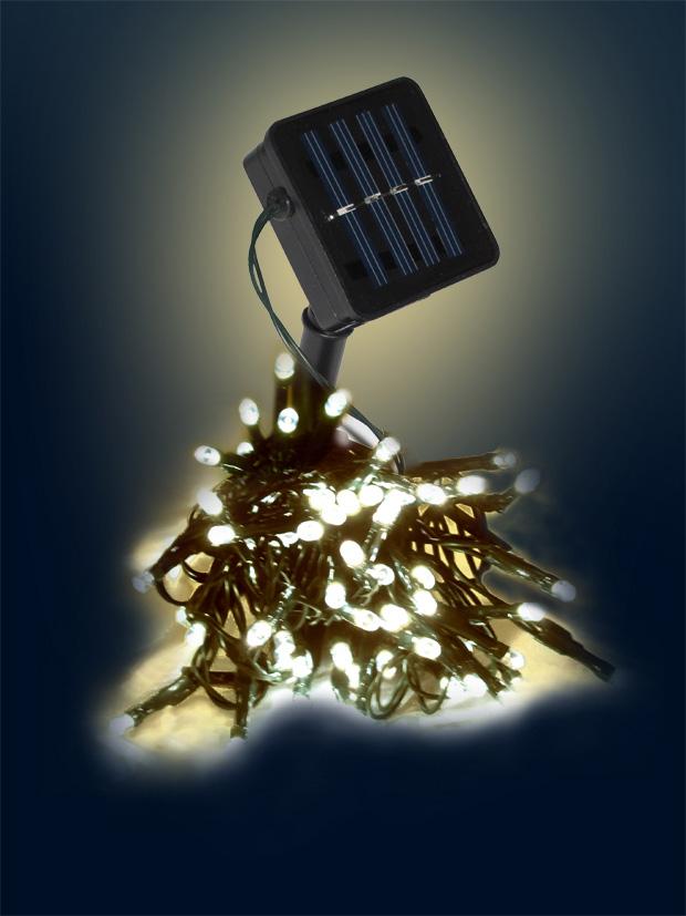 Solarlichterkette für Garten 8 Laternen mit externem Solarpanel Hängeleuchten
