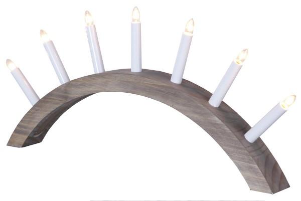 """Lichterbogen """"Aura"""" - 7 warmweiße Glühlampen - L: 58cm, H: 29cm - Holz - Schalter - Braun"""
