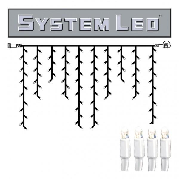 System LED White | Lichtvorhang | koppelbar | exkl. Trafo | 2,00m x 1,00m | 100x Kaltweiß