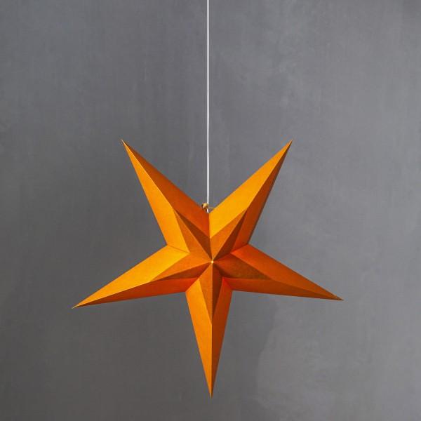 Papierstern Diva - hängend - 5-zackig - D: 60cm - Samtstern - orange
