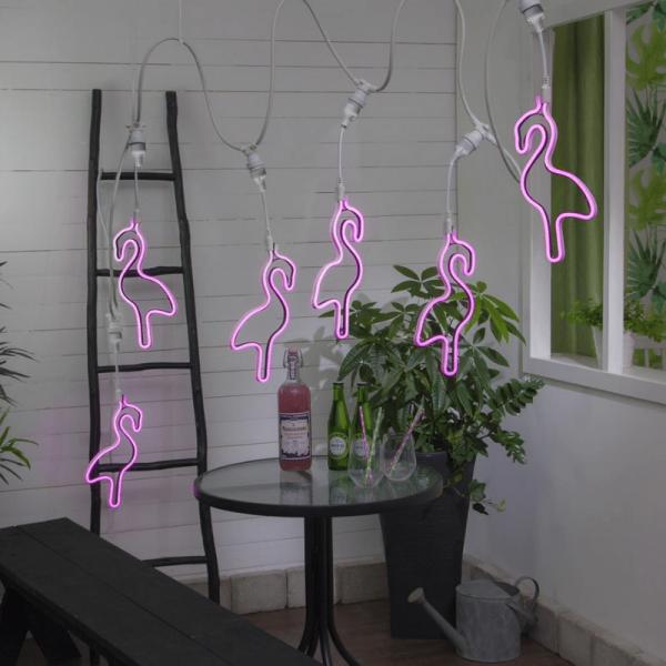 "System CONNECTA - ""Flamingo"" pink - LED-Objekt mit E27 Fassung - outdoor - H: 52cm - B: 18cm"