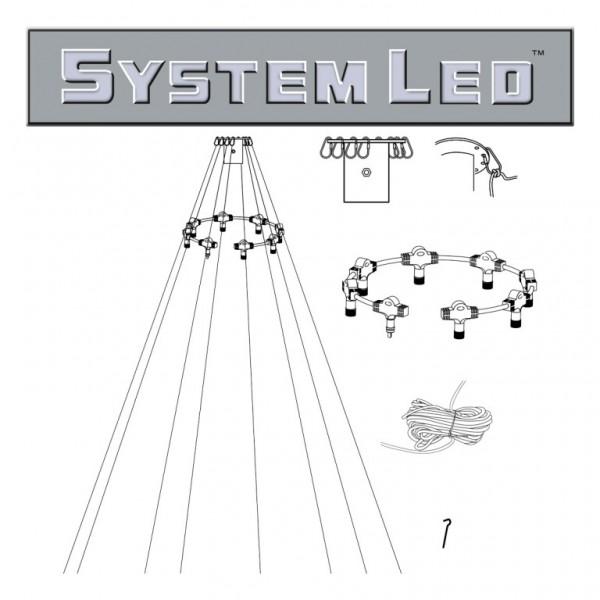 System LED White | Fahnenmast-Zubehör-Set | koppelbar | exkl. Trafo