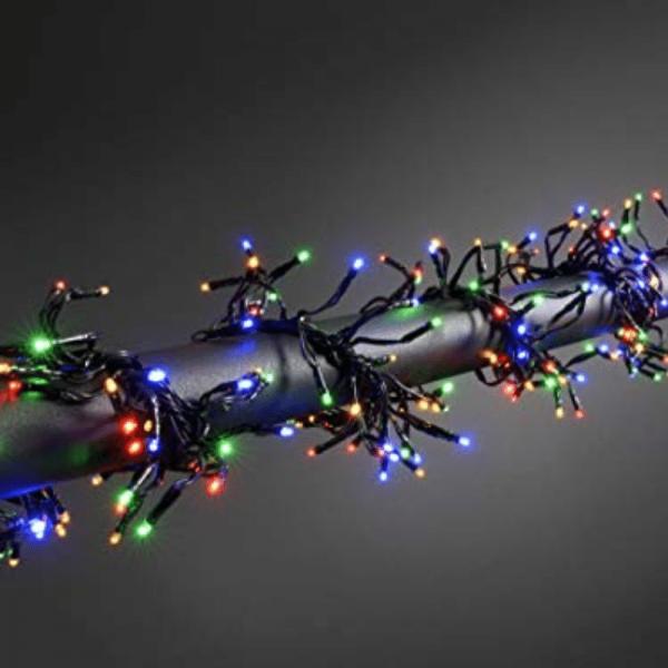 LED-Büschellichterkette - Garland Line Outdoor - Controller - 3,00m - 580x Bunt - Schwarzes Kabel