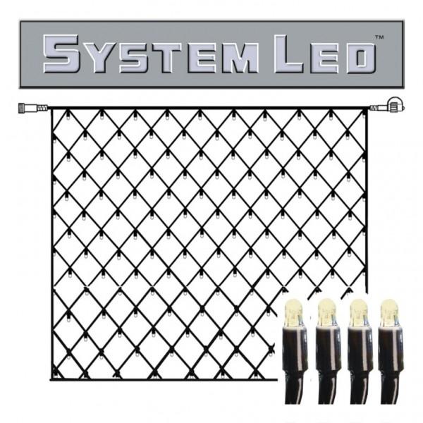 System LED Black | Lichtnetz | koppelbar | exkl. Trafo | 3.00m x 3.00m | 192x Warmweiß