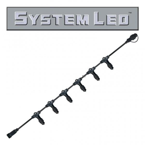 System LED Black | Verteiler | koppelbar | exkl. Trafo | 12-fach | 2.00m