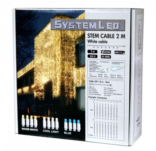 System LED White | Verteiler | koppelbar | exkl. Trafo | 8-fach | 2.00m