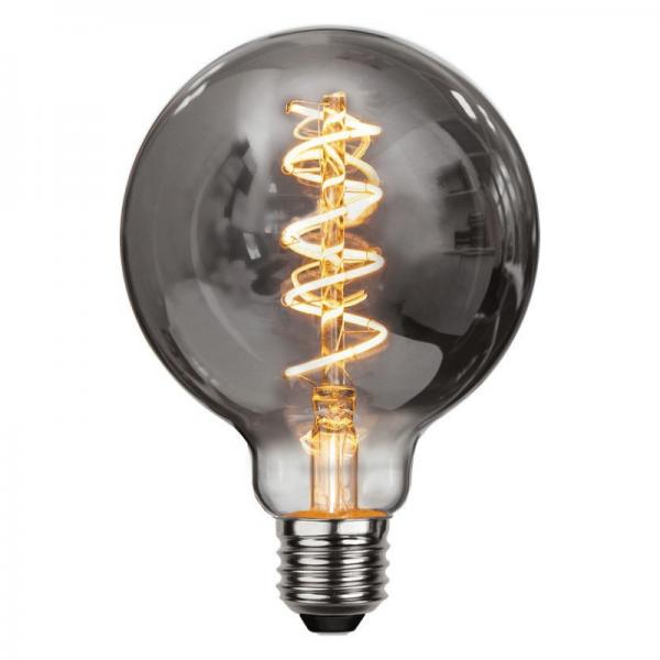Leuchtmittel | LED | Filament | SPIRAL | E27 | Dimmbar | Kugel | Ø95mm | Smoked Glas