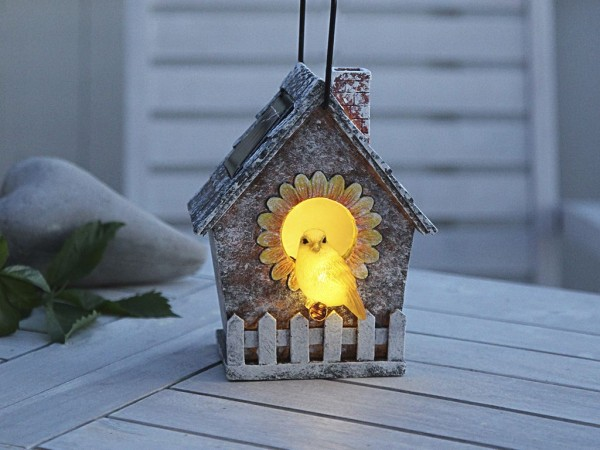 LED-Solar-Vogelhaus - Animal Line Outdoor - →13 x ↑16cm - 2x Warmweiß