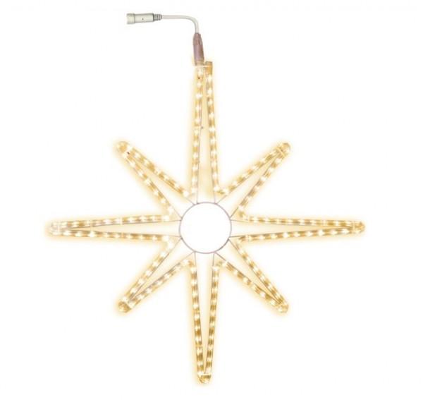 SYSTEM LED - LED Stern aus Lichtschlauch - 75cm - 144 warmweiße LED - Outdoor