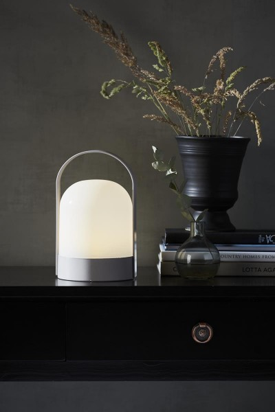 "LED Laterne ""Lette"" - 22cm - warmweißes Licht - Batterie - Timer - D: 14cm - indoor"