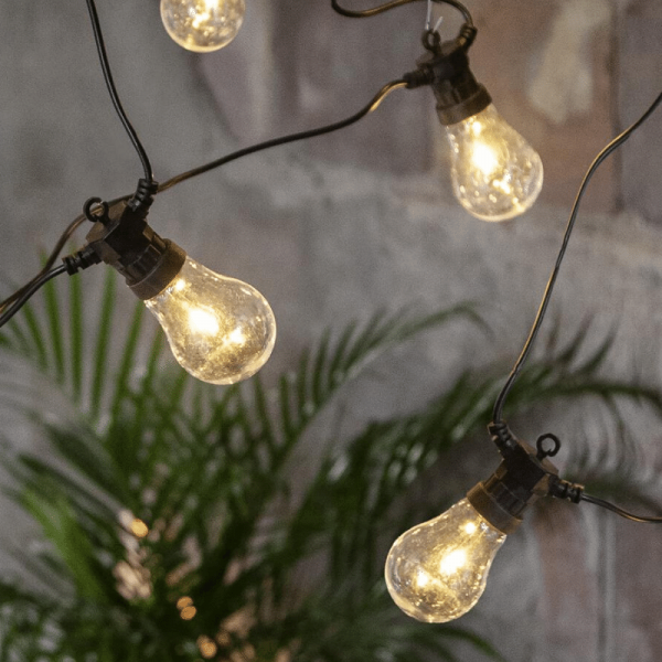 "LED Lichterkette ""CIRCUS"" - 10 Birnen, D: 6cm - warmweiße Filament LED - 5m - inkl. Trafo - outdoor"