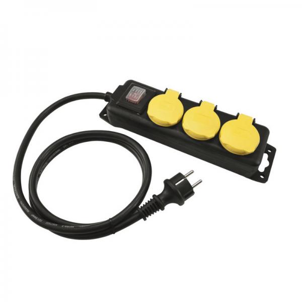 Steckdosenleiste OUTDOOR - 3-fach IP44 - 1,5m Kabel - mit Schalter