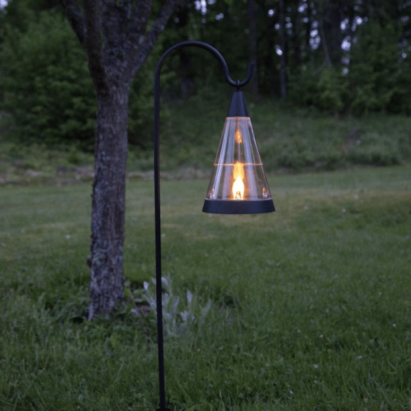 "LED-Solar Licht ""Pisa"" - 3in1 - Laterne/Windlicht/Spieß - amber LED - H: 70cm - Dämmerungssensor"