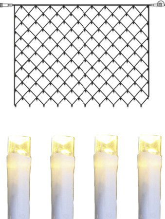 System DECOR | LED-Lichternetz | koppelbar | 2x1,5m | weißes Kabel | 100 warmweiße LEDs