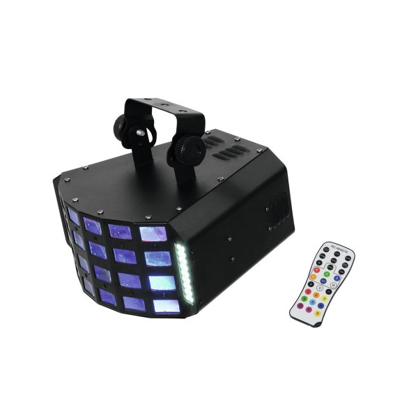 """LED Hybrid Strahleneffekt """"D-30"""" - Energiebündel mit Strahlen, Farben und Stroboskop - Fernbedienung"""