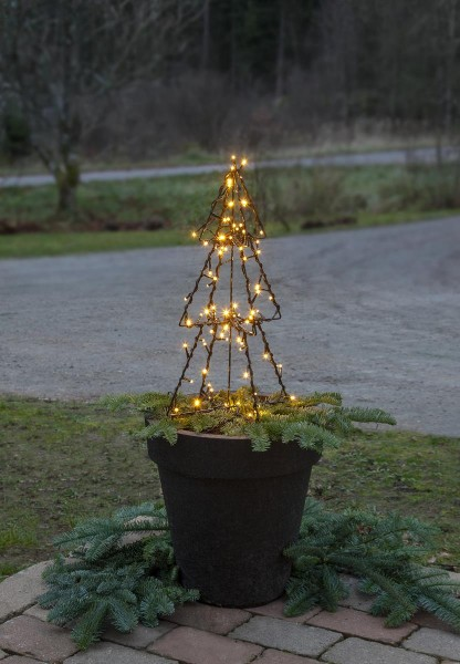 "LED-Leuchtbaum ""Foldy"" - 90 warmweiße LED - H: 50cm - Trafo - 3m Zuleitung - outdoor"