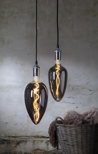XL Design Leuchtmittel smoked - LED Filament - 33cm - E27 - dimmbar - 2200K ultra warmweiß - 135lm
